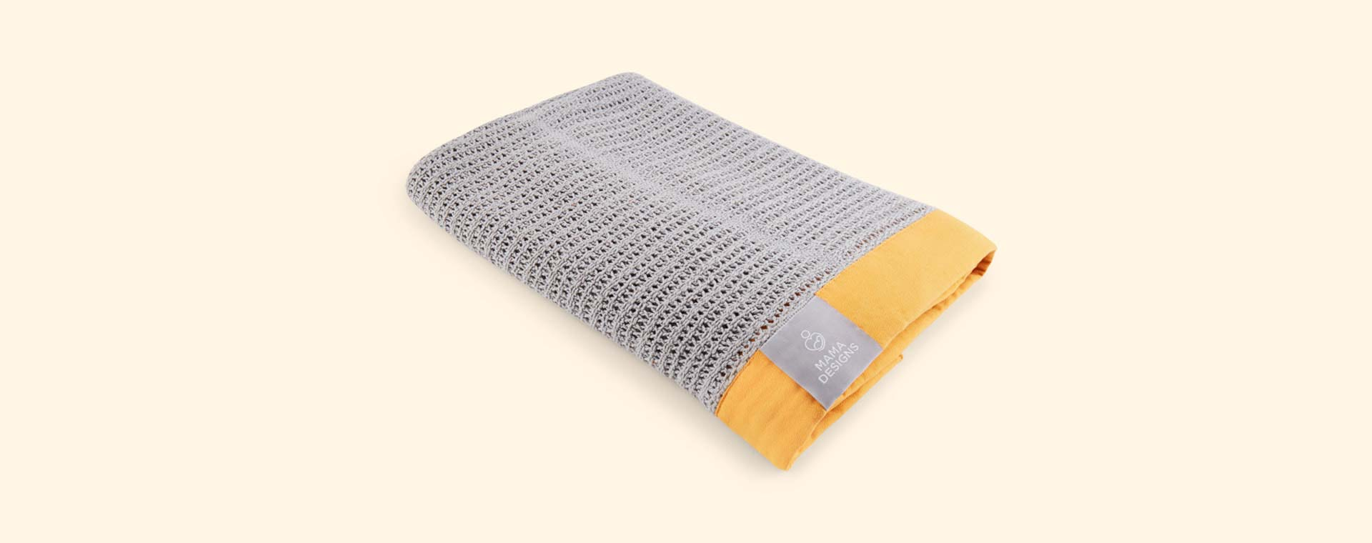 Grey and Orange Trim Mama Designs Cellular Blanket