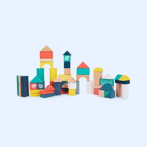 Multi Vilac 54 Piece Wooden Blocks