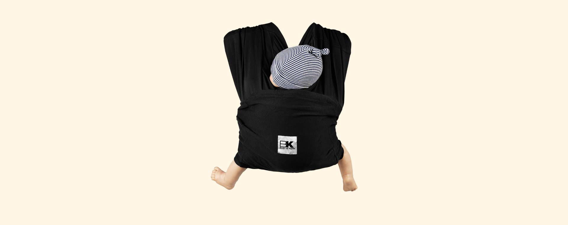 Black Baby K'tan Original Wrap Baby Carrier