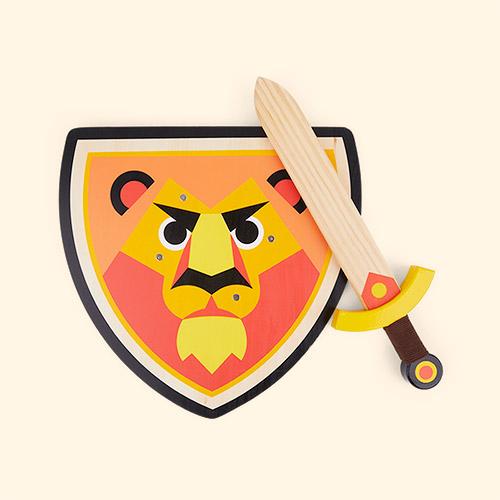 Multi Vilac Lion Sword & Shield
