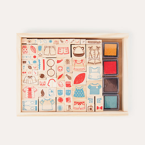 Multi Vilac Characters Wooden Stamps