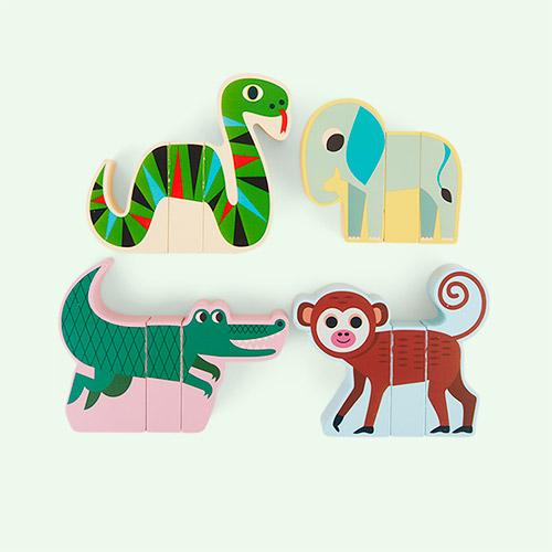 Multi Vilac Magnetic Jungle Animals Set