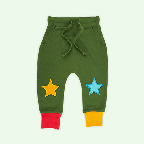Green Little Green Radicals Woodland Green Star Joggers