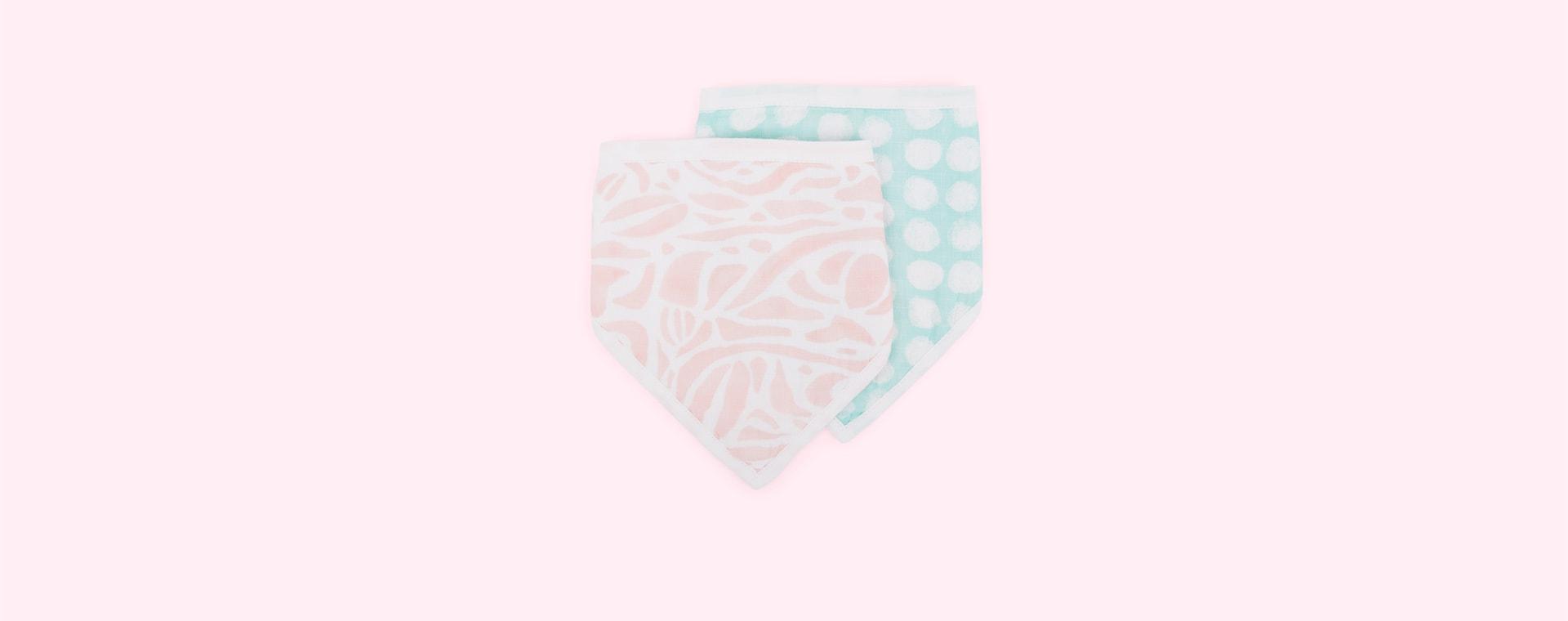 Tropicalia aden + anais 2-Pack Essentials Cotton Muslin Baby Bandana Bibs