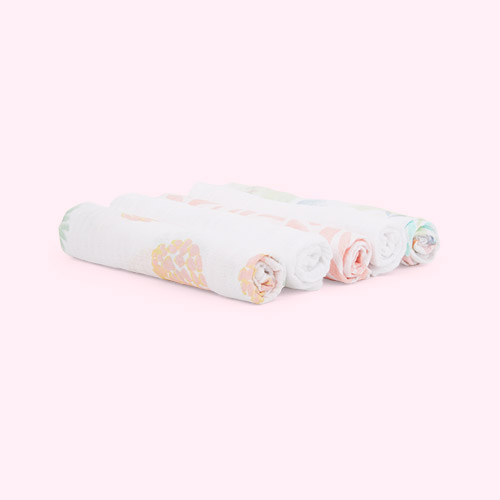 Tropicalia aden + anais 5-Pack Essentials Cotton Muslin Squares