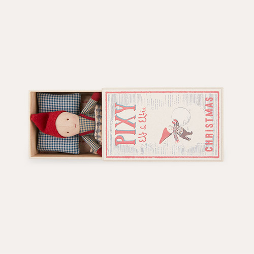 Multi Maileg Pixy Elf In Matchbox - Boy
