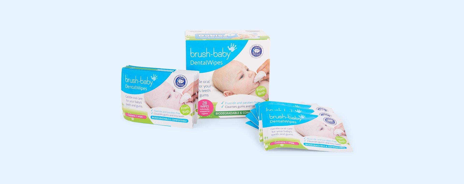 White Brush-Baby Dental wipes