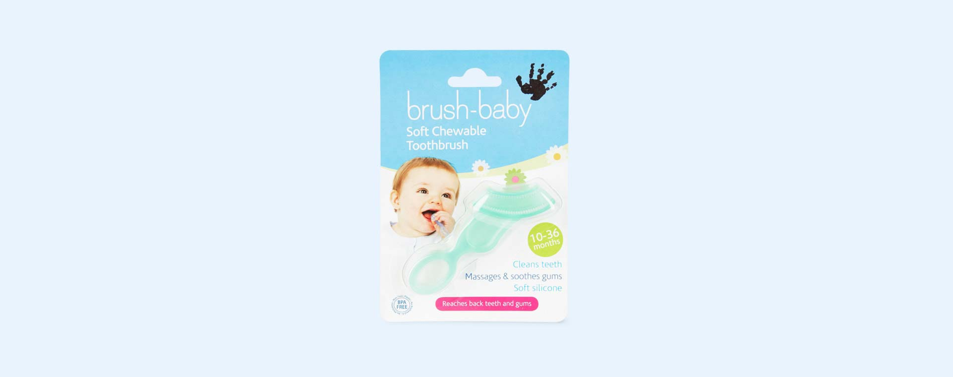 Blue Brushbaby Soft Chewable Toothbrush