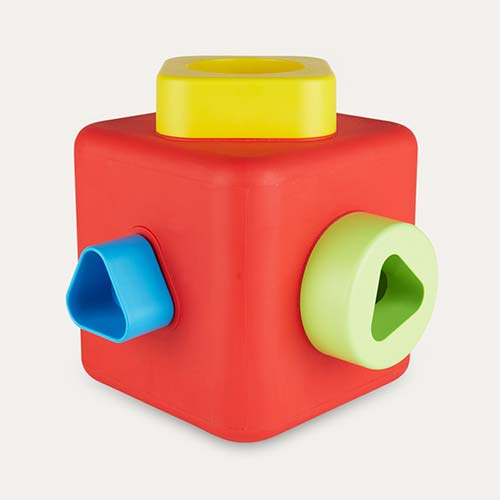 Red Bioserie Shape Sorter & Stacking Cube