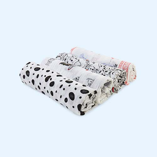 101 Dalmations aden + anais Disney Swaddle Blankets - 4 Pack
