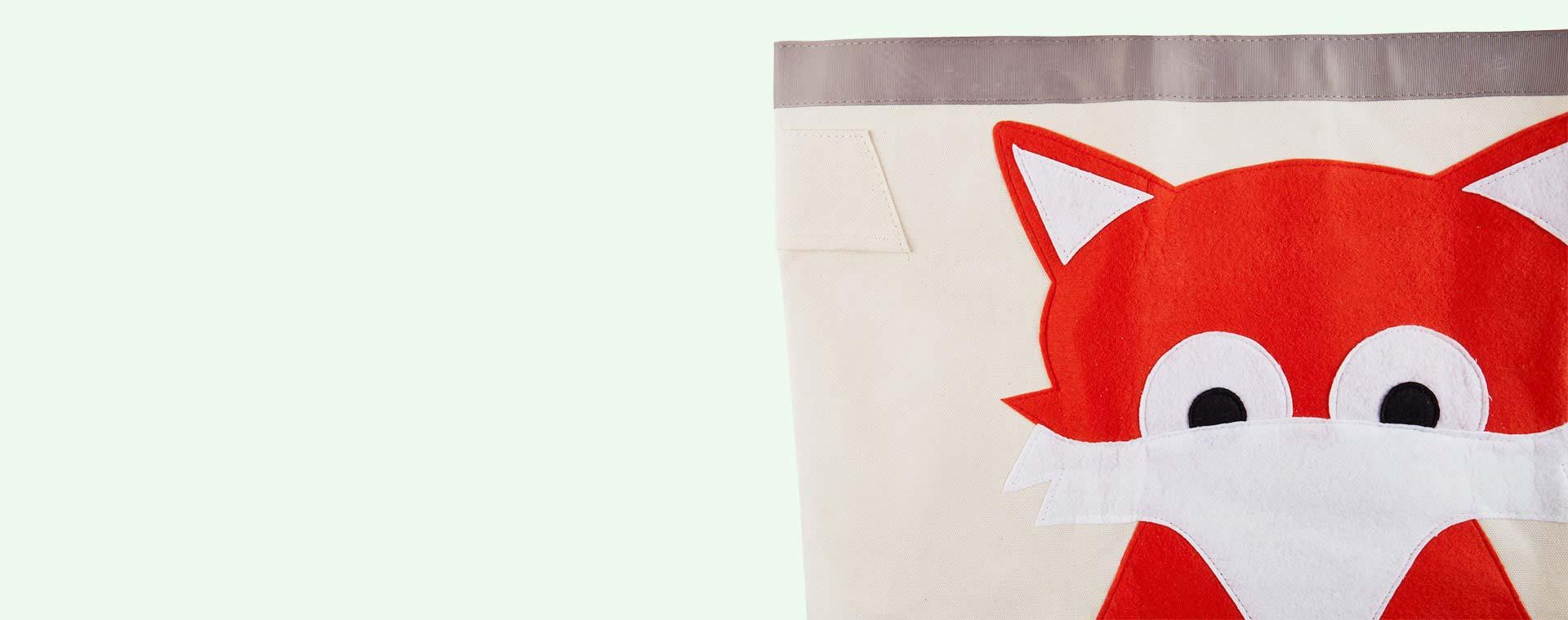 Orange 3 Sprouts Fox Storage Bag