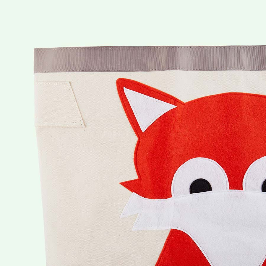 Orange 3 Sprouts Fox Storage Bag