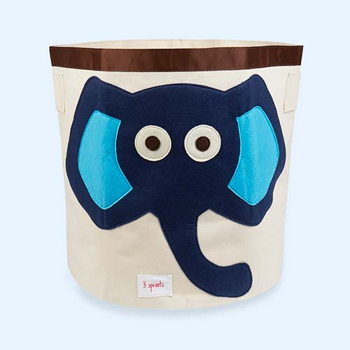 Blue 3 Sprouts Elephant Storage Bag