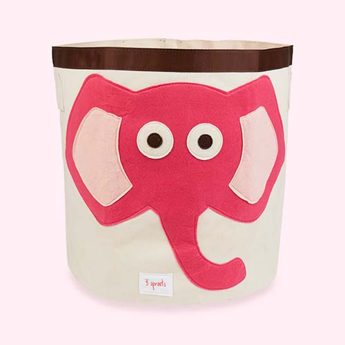 Pink 3 Sprouts Elephant Storage Bag