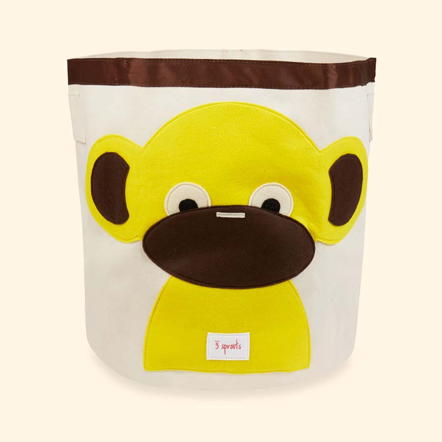 Yellow 3 Sprouts Monkey Storage Bag