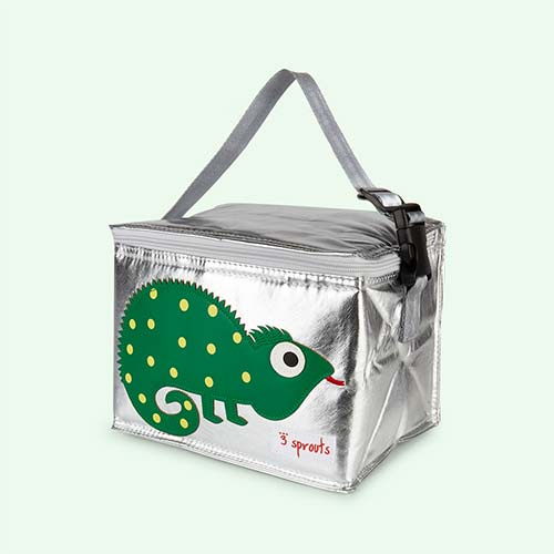 Green 3 Sprouts Iguana Lunchbox