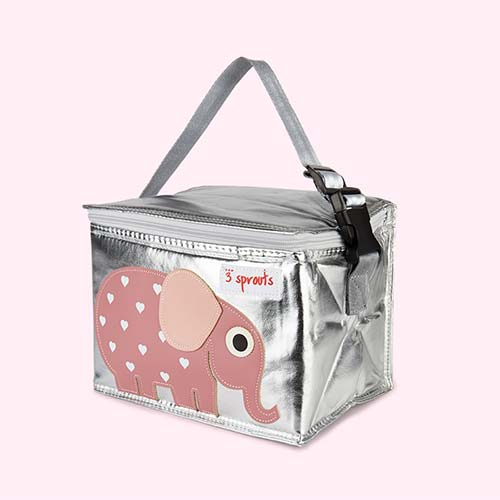 Pink 3 Sprouts Elephant Lunchbox