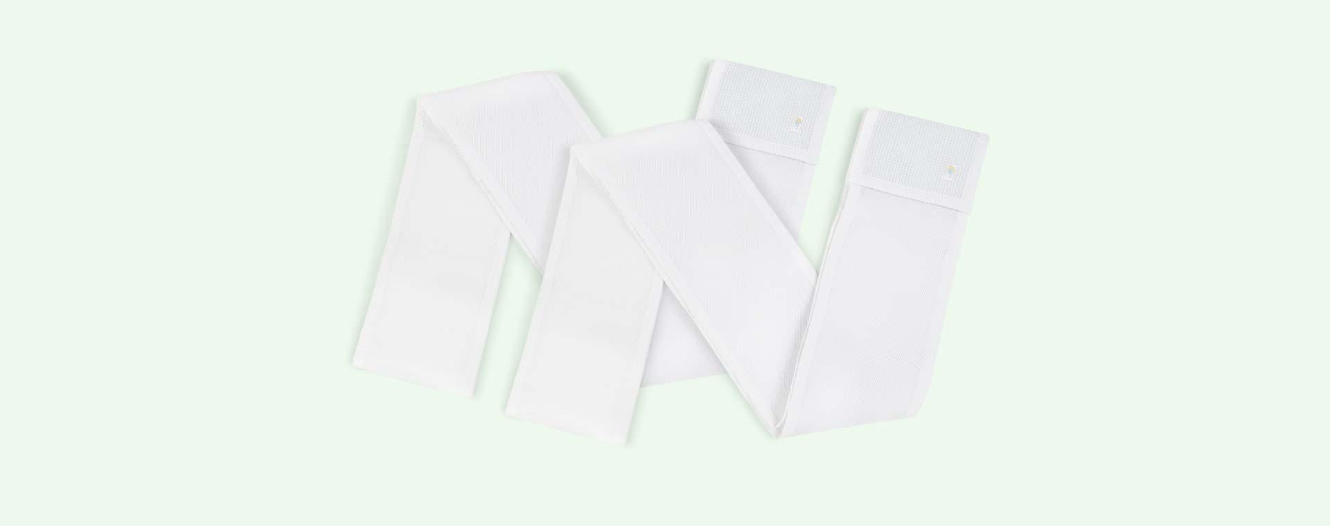 White babybundle Safe Dreams 4 sided Cotwrap Bumper