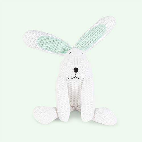 White babybundle SafeBreathe Hoppy Toy