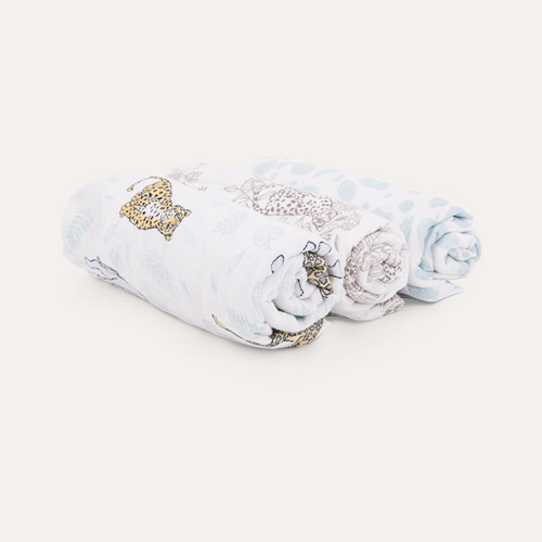 Jungle aden + anais 3-Pack Classic Musy Squares Muslins