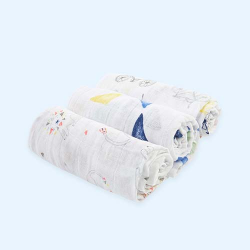 Leader of the Pack aden + anais Classic Musy Muslins - 3 Pack