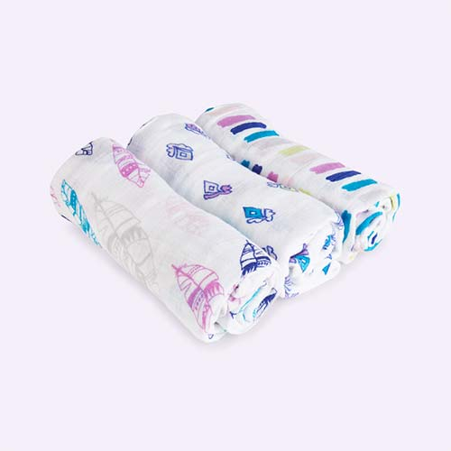 Wink aden + anais Classic Musy Muslins - 3 Pack