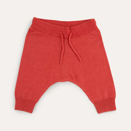 Soft Red Kidscase Paris Knitted Pants