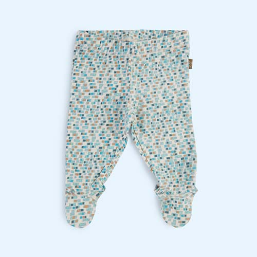 Light Blue Kidscase Happy Organic Baby Footed Pant