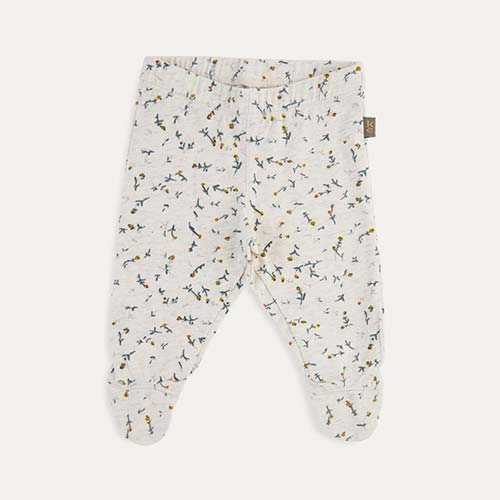 Off White Kidscase Happy Organic Baby Footed Pant