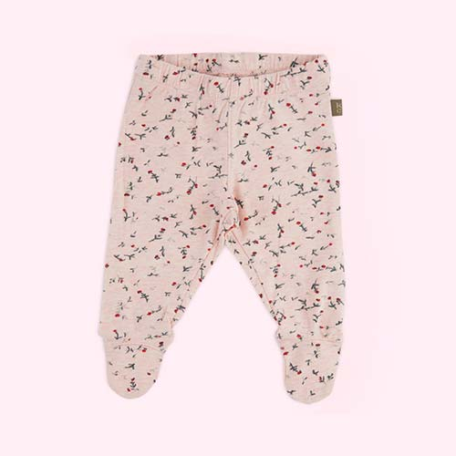 Light Pink Kidscase Happy Organic Baby Footed Pant