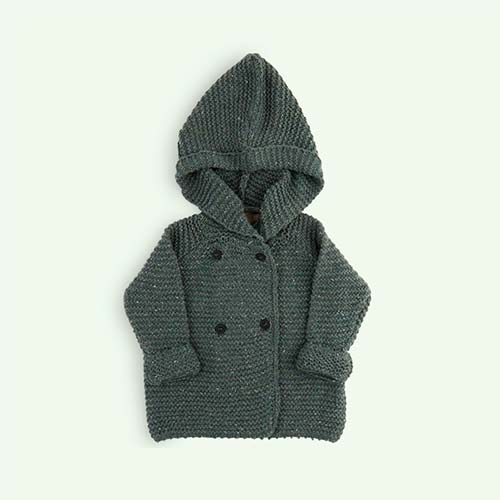 Green Kidscase Nat Cardigan