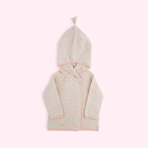Light Pink Kidscase Joy Newborn Cardigan