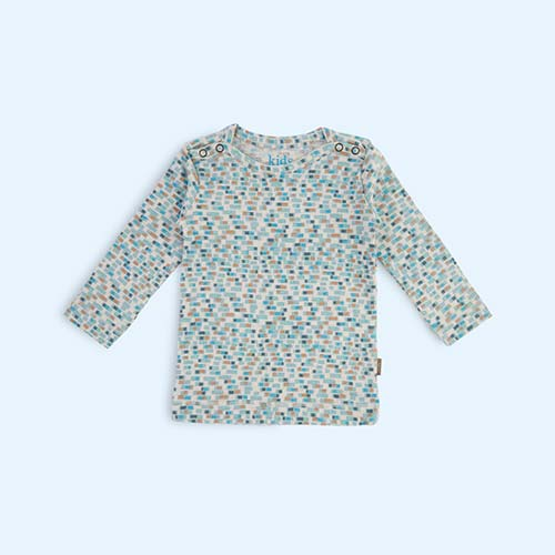Light Blue Kidscase Happy Organic Baby T-shirt