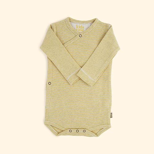 Yellow Kidscase Hope Organic Bodysuit