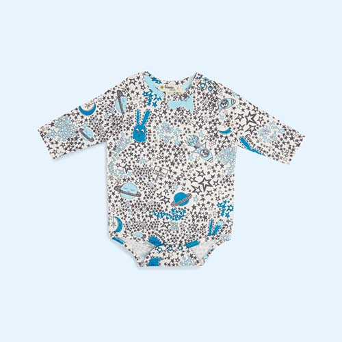 Blue Night Sky The Bonnie Mob Balto Printed Bodysuit