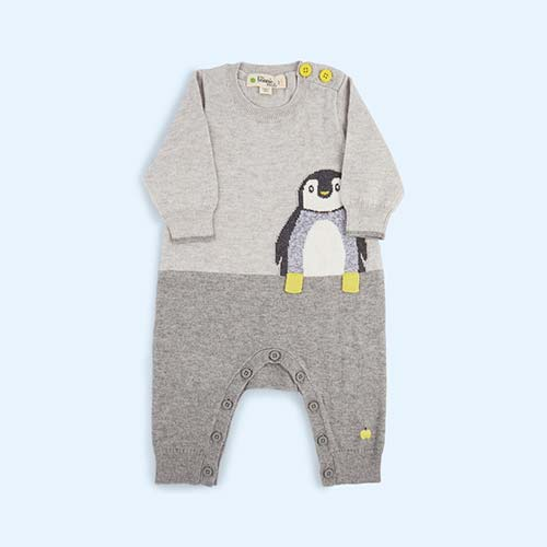 Grey The Bonnie Mob Penguin True Knit All-In-One