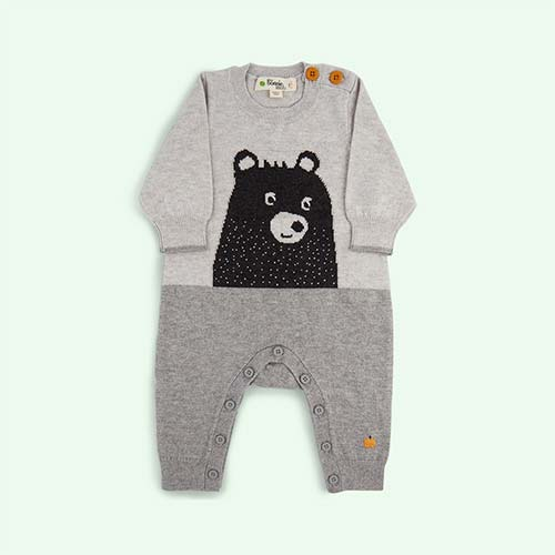 Grey The Bonnie Mob Bear True Knit All-In-One