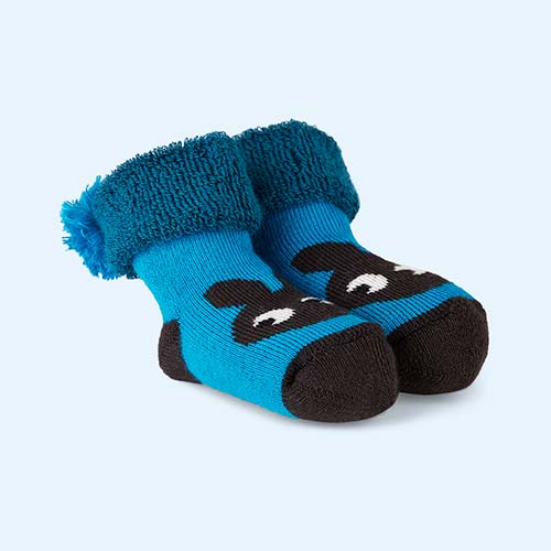 Teal The Bonnie Mob Winkle Bootie Bunny Socks