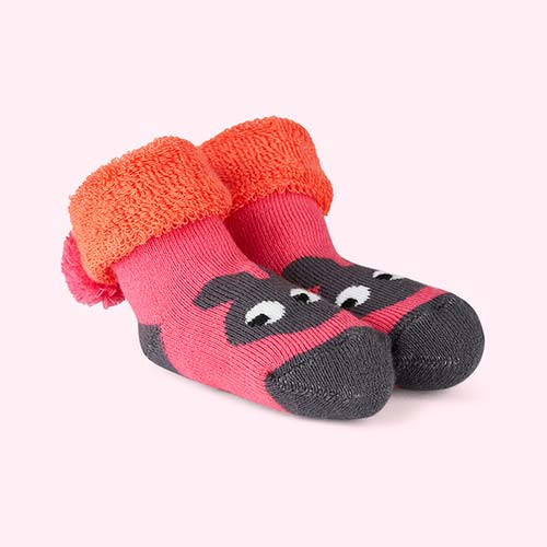 Pink The Bonnie Mob Winkle Bootie Bunny Socks