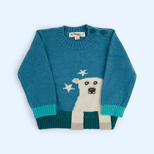 Teal The Bonnie Mob Polar Bear Sweater