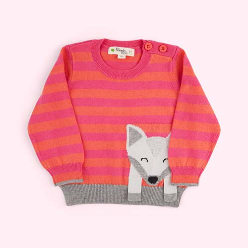 Pink The Bonnie Mob Fox Sweater