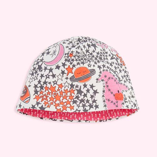 Pink Night Sky The Bonnie Mob BEANO Reversible Beanie Hat