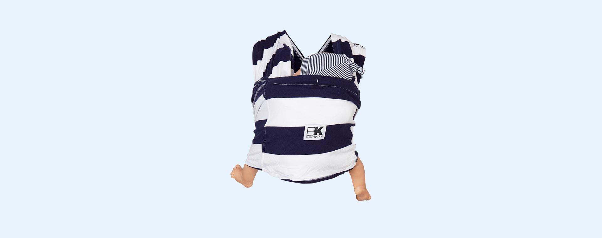 Navy Stripe Baby K'tan Original Printed Wrap Carrier