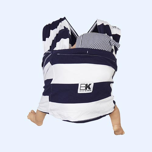 Navy Stripe Baby K'tan Original Printed Wrap Carrier
