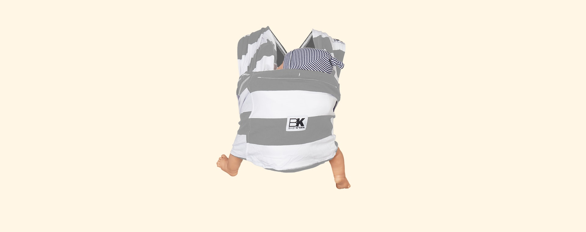 Charcoal Stripe Baby K'tan Original Printed Wrap Carrier