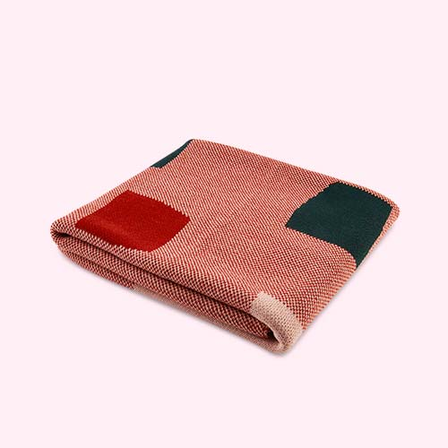 Soft Red Kidscase Stone Blanket