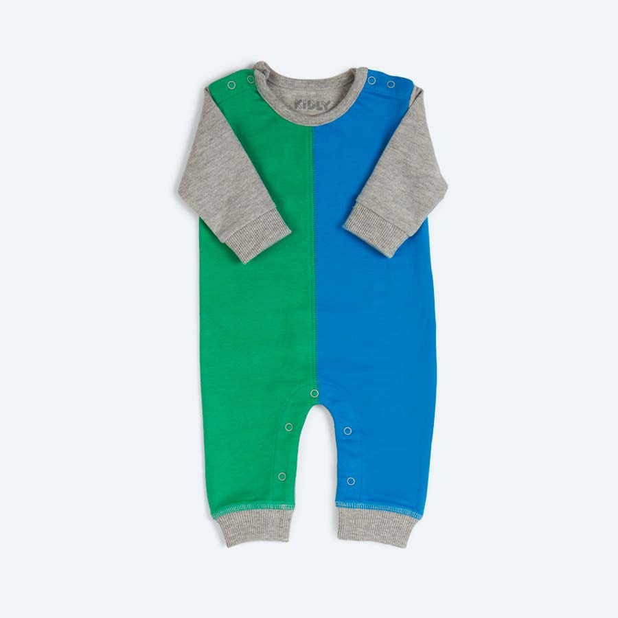Green Mix KIDLY's Own Colourblock All in One