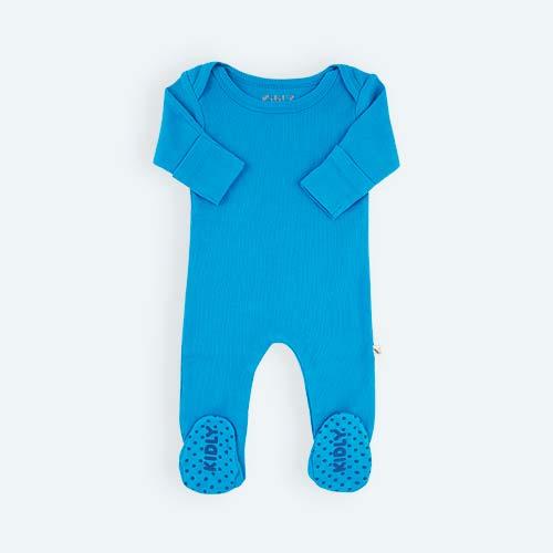 Methyl Blue KIDLY's Own Ribbed Footed Sleepsuit