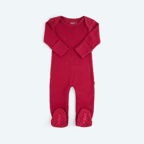Sangria KIDLY's Own Ribbed Footed Sleepsuit