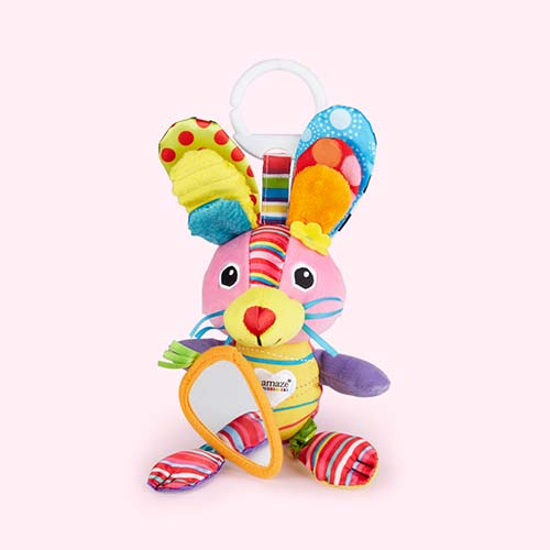 Multi Lamaze Bella the Bunny Clip & Go Toy